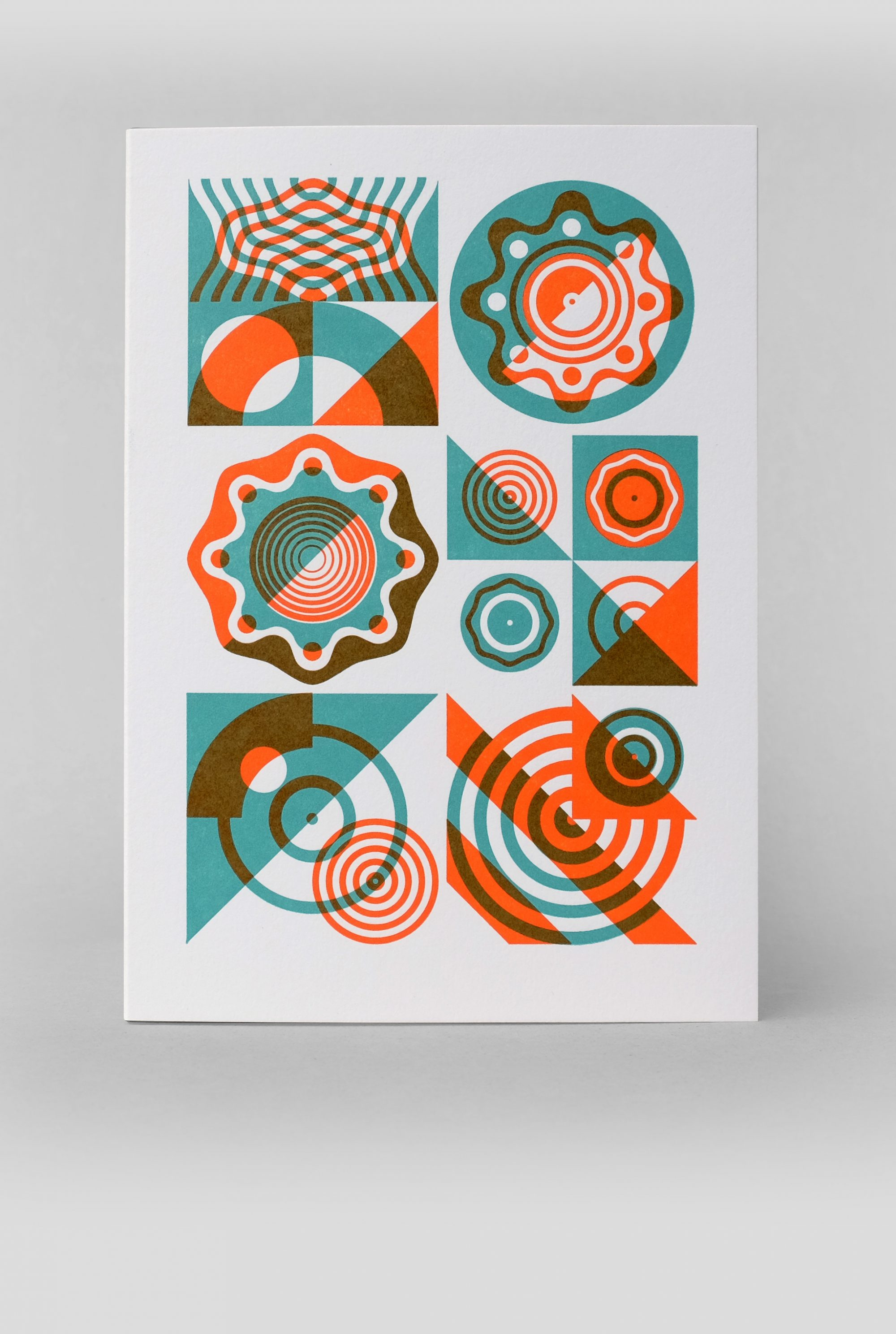 Limited edition geometric abstract letterpress card – imagesurgery