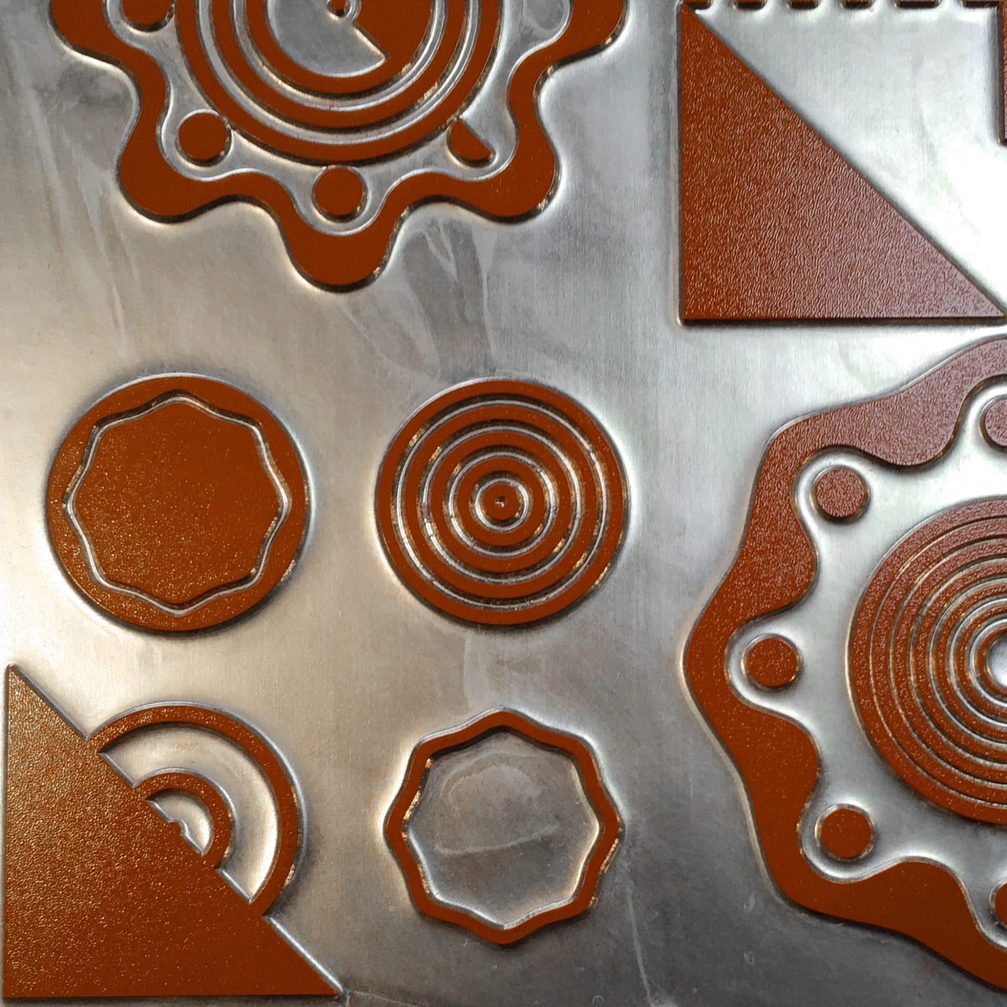 imagesurgery geometric festive letterpress card red printing plate