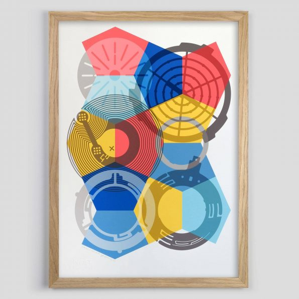 SKALA Nº1 Found Object Abstract Giclee Print