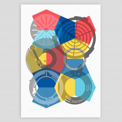 SKALA abstract geometric giclee art print