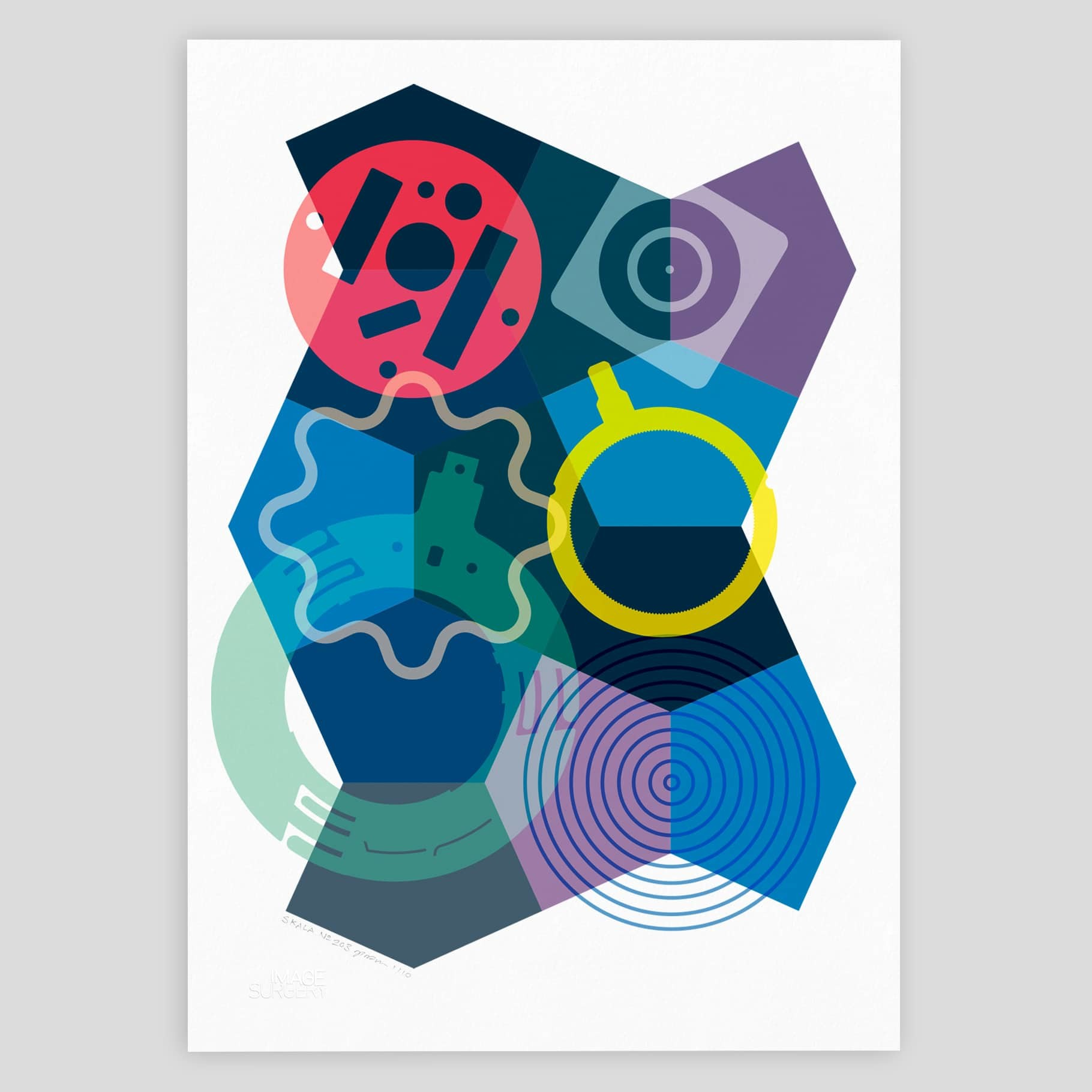 SKALA Nº3 geometric abstract print by imagesurgery