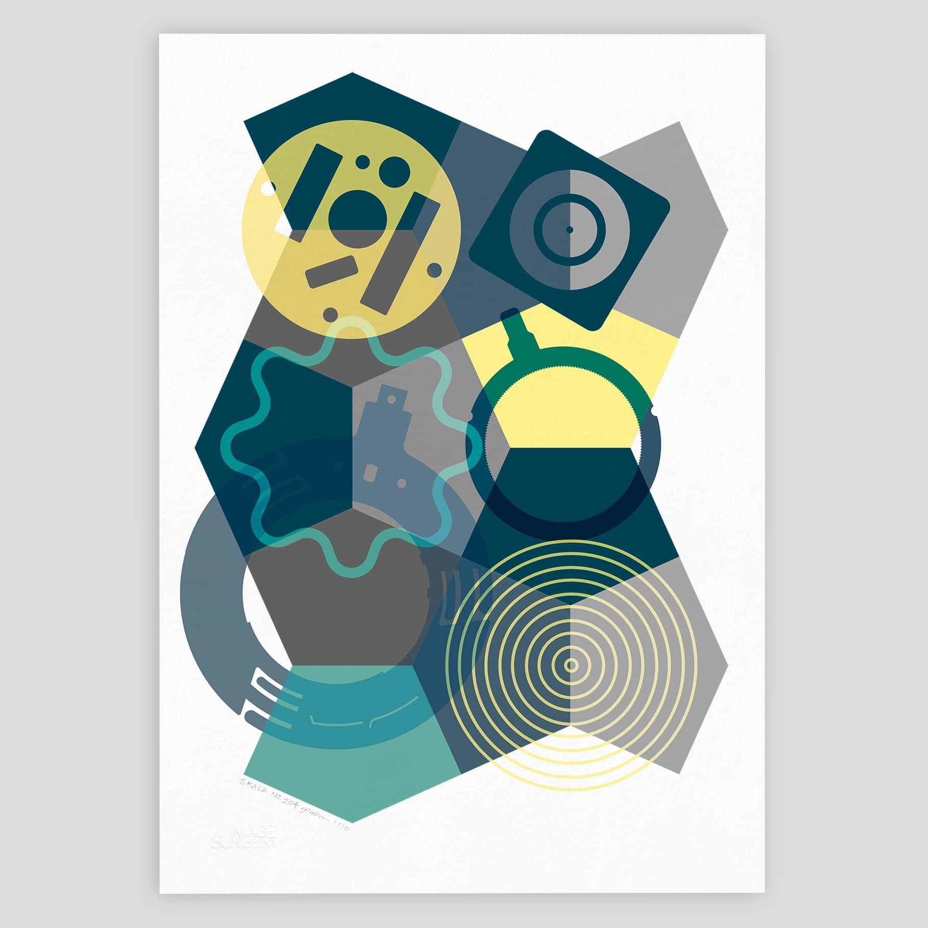 8a0288f614e Dynamic abstract geometric graphic art print for contemporary interior