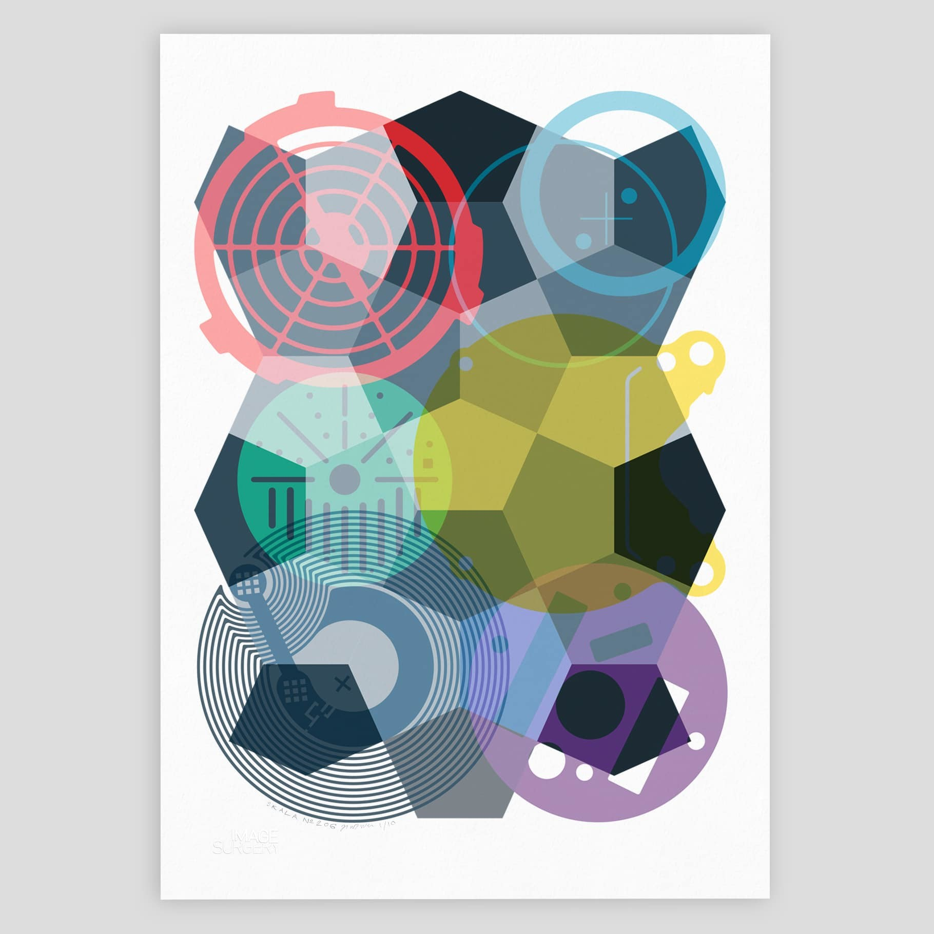 SKALA Nº6 geometric abstract print by imagesurgery