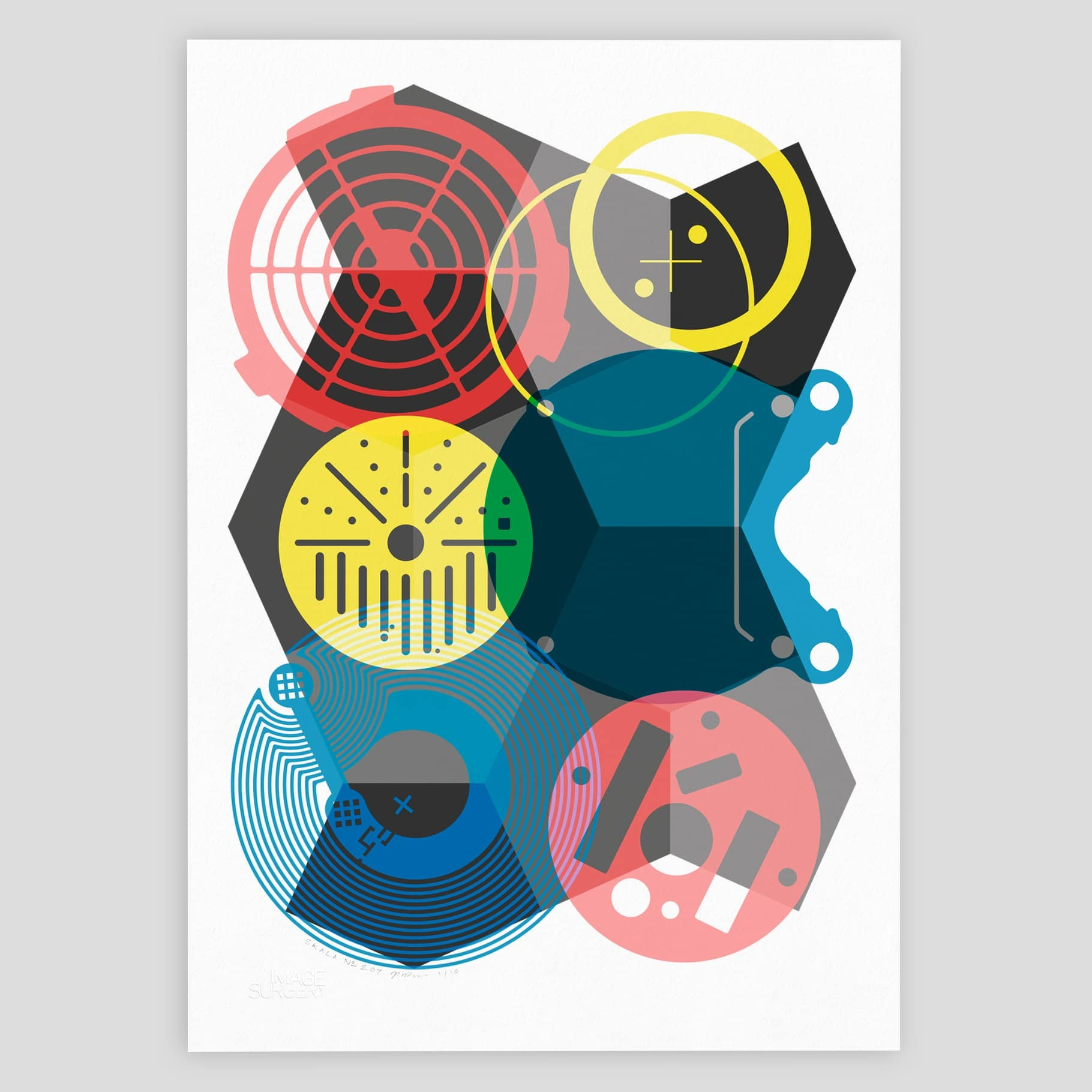 SKALA Nº7 geometric abstract print by imagesurgery