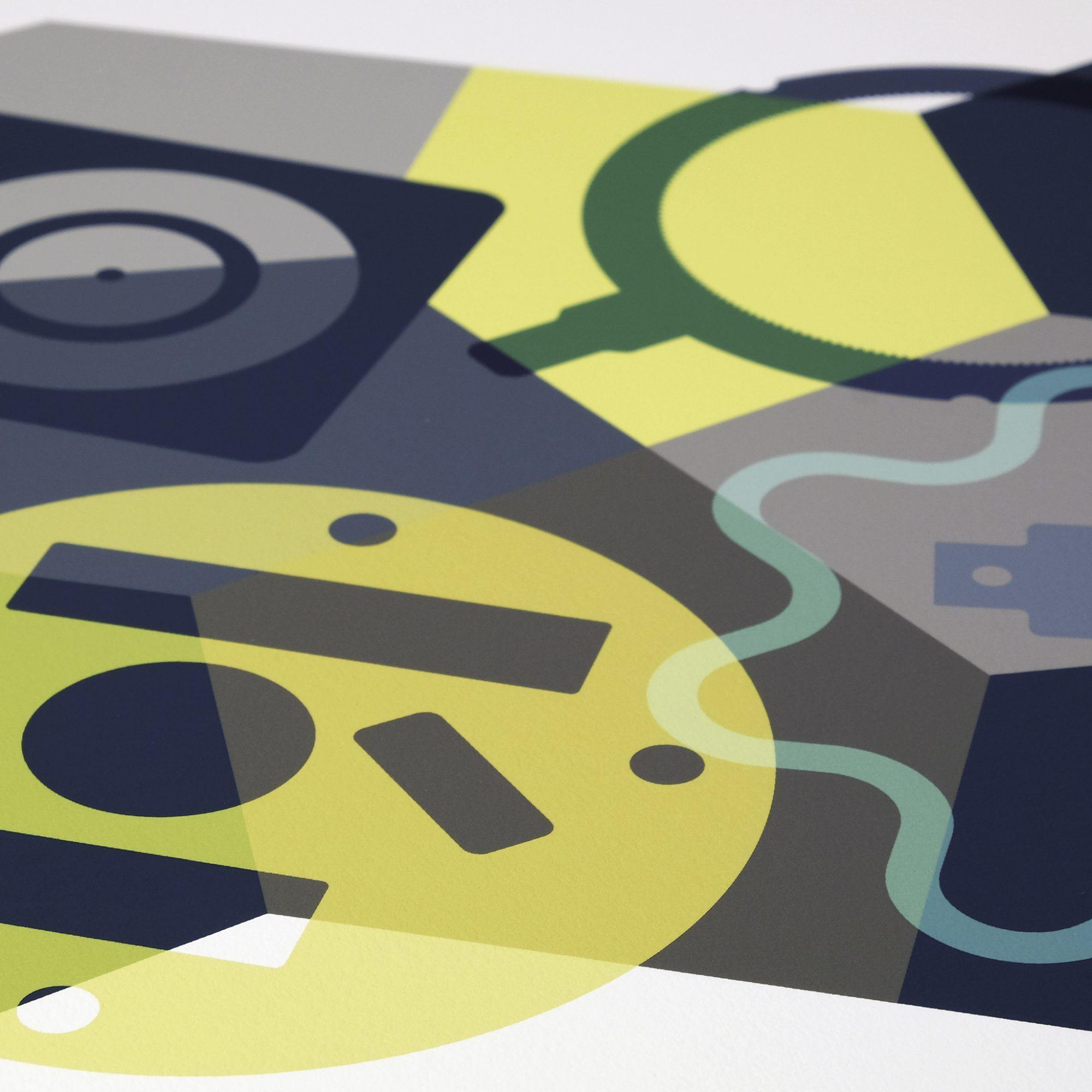 SKALA Nº4 geometric abstract print by imagesurgery